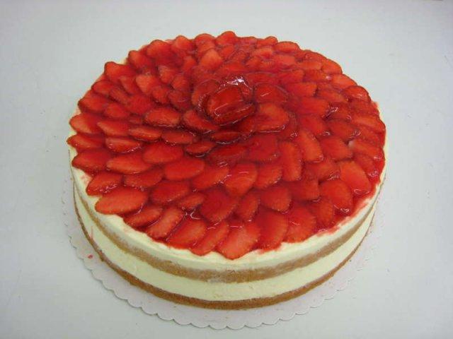 tvarohovy dort s ovocem Klasické dorty