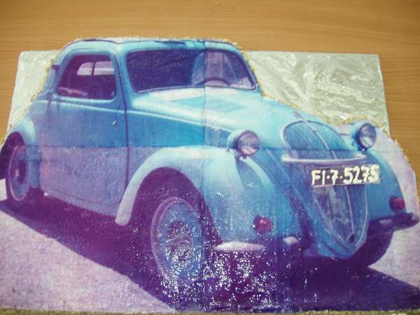 cokoladove auto s fotkou Na přání
