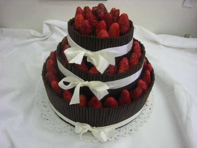 dort s cokoladovymi tycinkami Svatební dorty