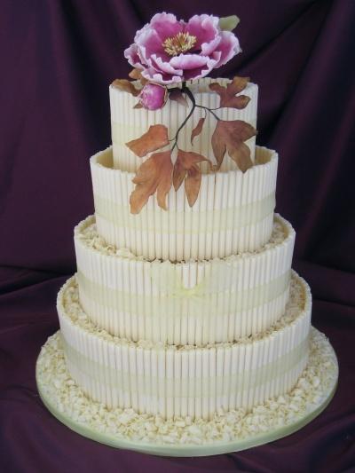 tycinky a kvety Svatební dorty